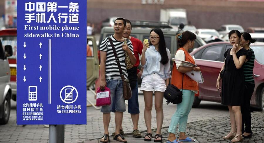 Kinesiske turister i Chongqing