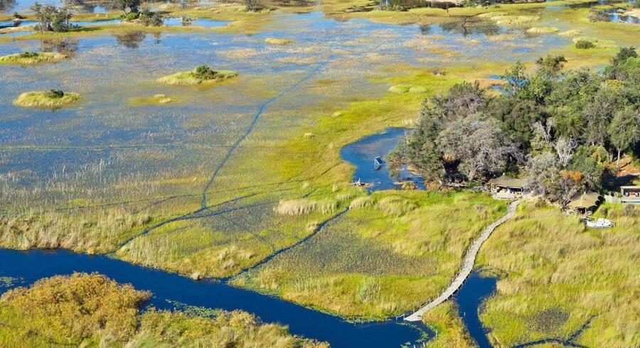 Turen starede i Okavango-deltaet ved dets nordlige grænse, hvor lodgen Little Vumbura ligger på en lille ø i deltaets udkant.