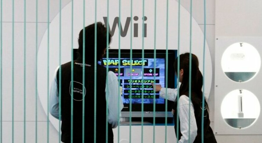 Salget af Nintendo Wii er halveret på et år i USA. Foto: Toru Hanai, Reuters/Scanpix