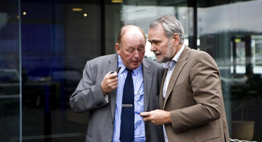 Harald Børsting(t.v.) og Dennis Kristensen er nu blevet enige om, hvordan samarbejdet skal være fremadrettet.