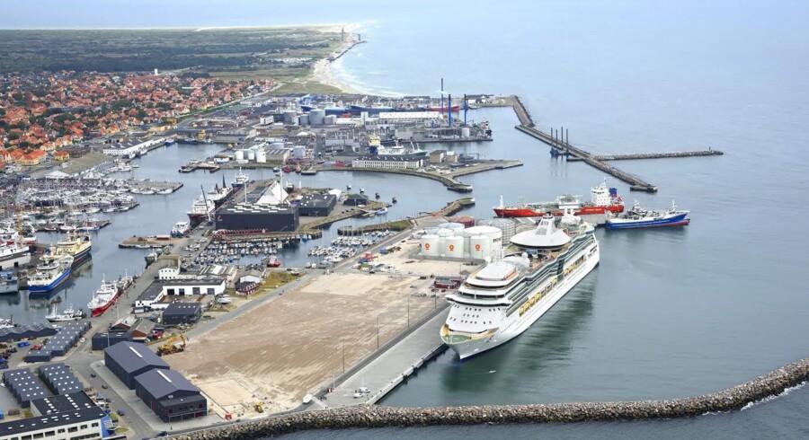 Skagen Havn – nu med krydstogtskibe. Foto: Skagen Havn