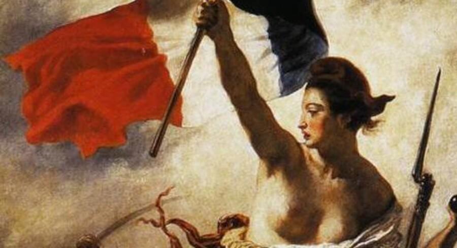 """Delacroixs """"Friheden fører folket..."""" fra 1830 er ikke et problem for Facebook."""