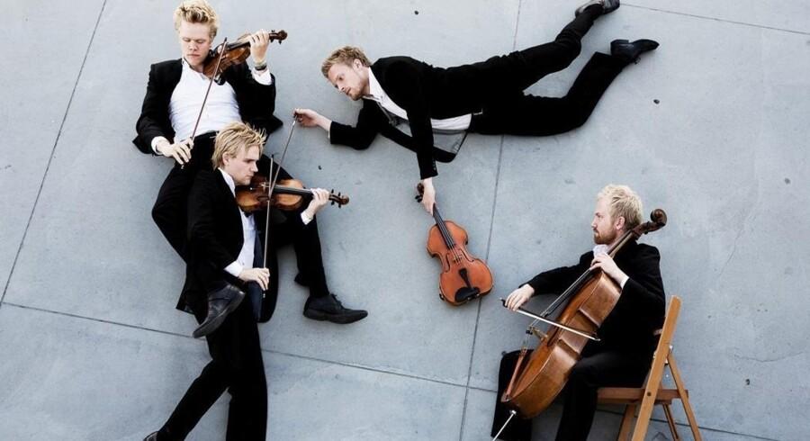 Den Danske Strygekvartet er helt igennem klassisk og samtidig klar med nye bud på Nordens halvglemte folkemusik – for eksempel på Den Hirschsprungske Samling i aften. Foto: PR