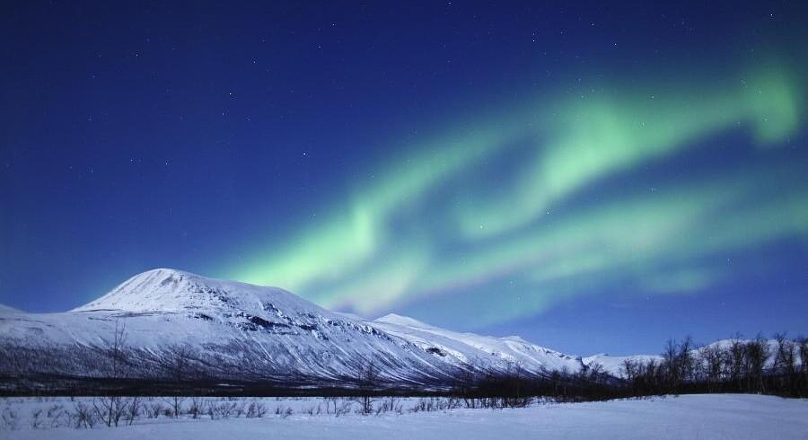 Kiruna i det nordligste Sverige er et af verdens bedst steder at se nordlys.