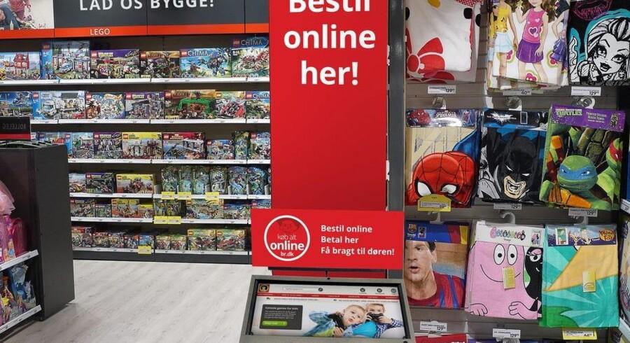 BR-kæden eksperimenterer i julehandlen med salg på tværs af digitale og fysiske salgskanaler. Sådan kommer den nye varebestillingsskærm i BR-butikkerne til at tage sig ud. PR-foto