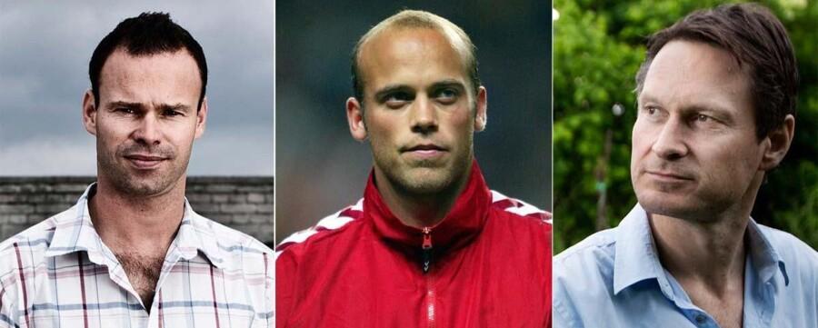 Kendiskokken Claus Meyer (th), den tidligere landsholdsspiller Claus Jensen og komikeren Mick Øgendahl (tv) smider et millionbeløb i 2. divisionsklubben Nykøbing FC.