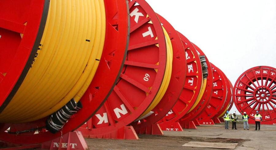 NKT Holdings kabeldivision, NKT Cables, havde fremgang i første kvartal, da divisionen omsatte for 163,3 mio. euro. målt i standardmetalpriser, hvilket udmøntede sig i et operationelt driftsresultat (EBITDA) på 12,1 mio. euro.