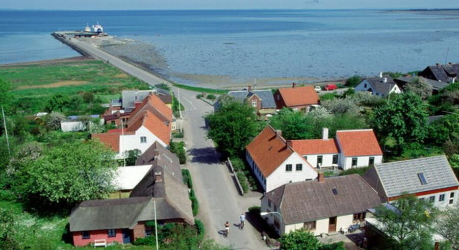 Øen Endelave nord for Fyn og vest for Samsø har 200 indbyggere. Men de må dele en Internet-forbindelse på otte megabit i sekundet. Foto: Claus Fisker, Scanpix