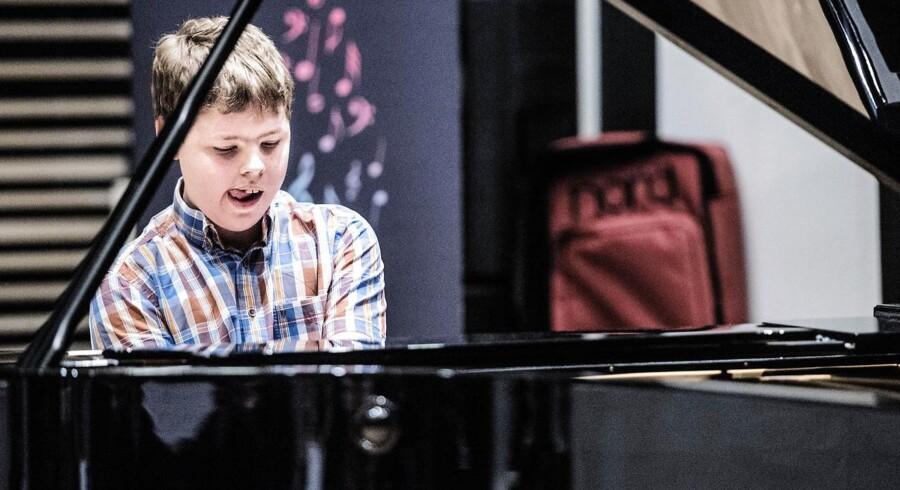 Berlingskes klassiske musikkonkurrence 2015. Her spiller William Alexander Rasmussen klaver.
