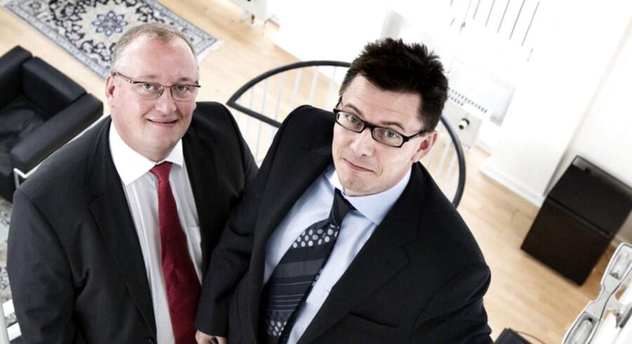 Steen Bryde (tv.) og Lasse Lindblad, der var primusmotorer bag velhaverbanken Capinordic