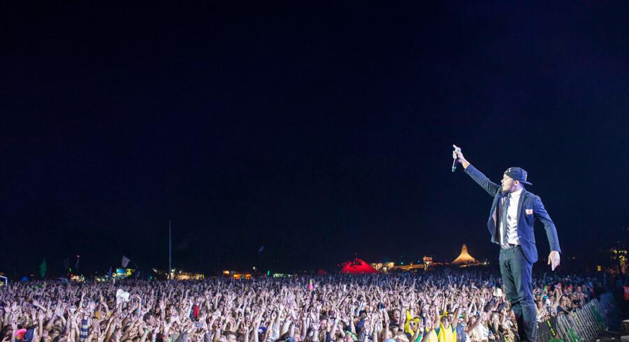 Major Lazer på Orange scene på Roskildefestivalen Major Lazer spiller lørdag nat på Orange Scene under Roskilde Festival 2014.