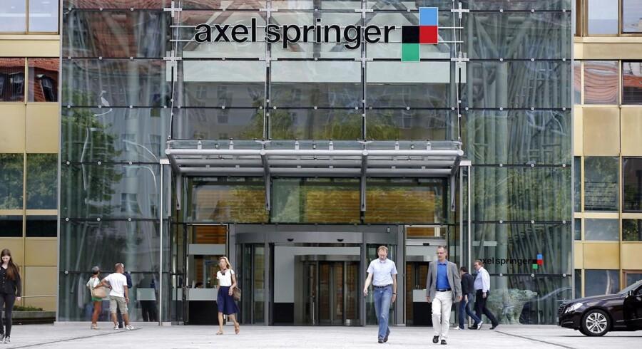 Axel Springer koncernen ejer Bild, der har succes online.