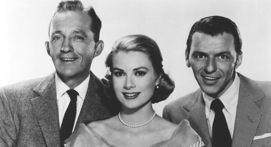 Grace Kelly omgivet af Bing Crosby og Frank Sinatra i filmen »High Society« 1956. Foto: AFP/Scanpix