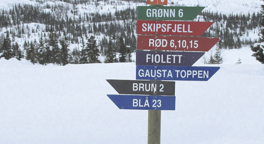 Norske Gaustablikk har tidligere især tiltrukket langrendsløbere, men med det nye alpine anlæg er der nu kommet flere tilbud til de fart-glade.