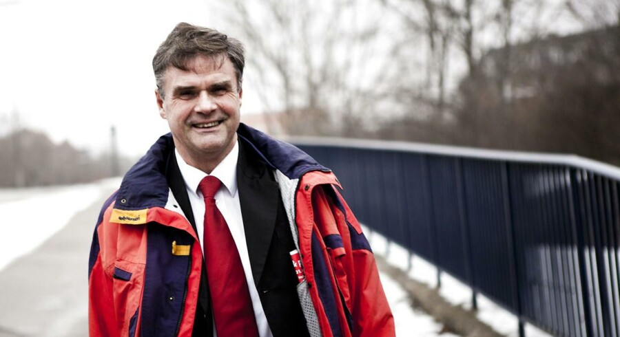 Finn Helmer, tidligere milliardær på Giga, i retten, hvor han skal betale lån tilbage til en anden erhvervsmand.