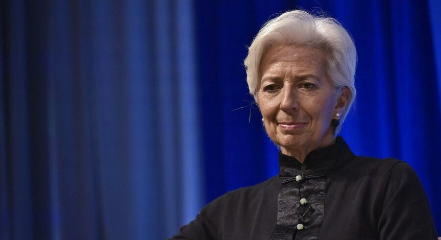 Den Internationale Valutafond, IMF, åbner for at genoptage udbetalingen af milliardlån til Ukraine. Her er det IMF's administrerende direktør, Christine Lagarde . (AFP PHOTO / Mandel Ngan)
