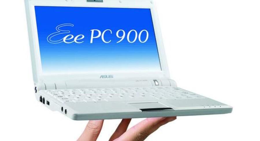 De små mini-PCer med op til 10 tommerskærme og til priser på 1.800-3.000 kroner er blevet meget populære. Her er det Asus Eee-PC.