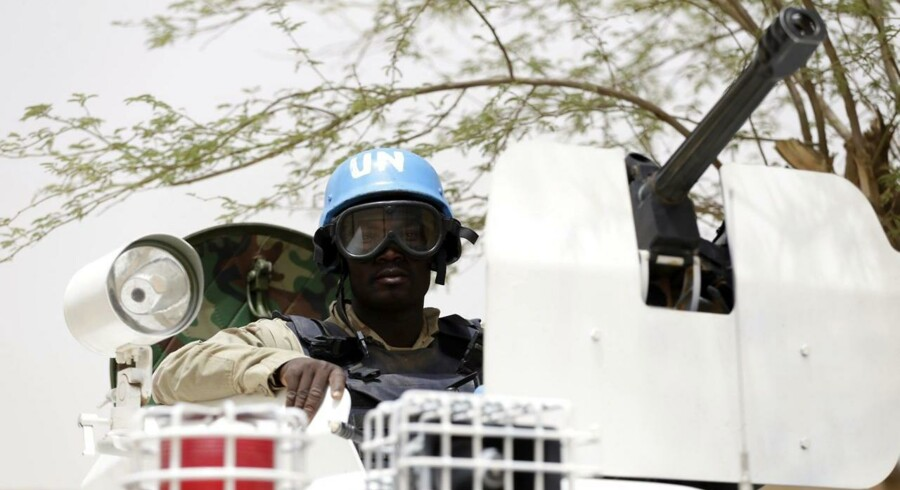 FN-soldater har i årevis uden held forsøgt at bevare freden i vestafrikanske Mali. Lørdag blev en FN-base selv mål for et terrorangreb, som dræbte tre. Arkivfoto: Kenzo Tribouillard/AFP