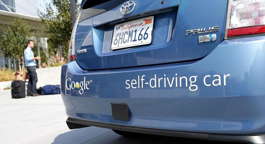 Den amerikanske internetgigant Google er et af de selskaber, der arbejder med udvikling af selvkørende biler. Arkivfoto: Justin Sullivan / Getty Images / Scanpix