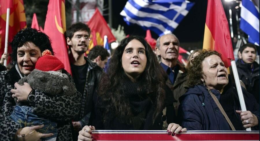 Grækerne holder vejret frem til det meget afgørende parlamentsvalg søndag.
