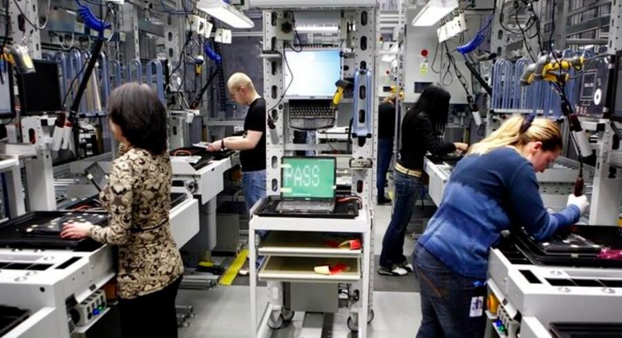 Verdens næststørste PC-producent, Dell, flytter produktionen fra Limerick i Irland til den nyåbnede fabrik her i Lodz, Polen. Foto: Reuters/Scanpix