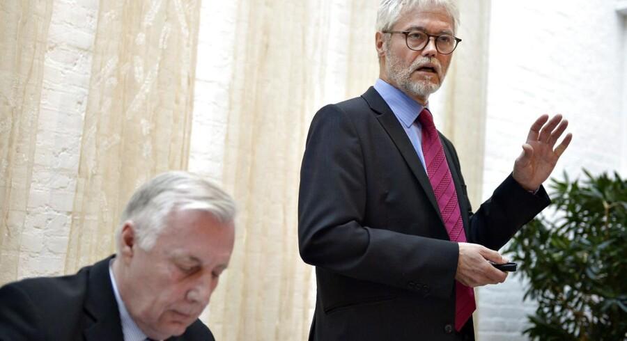 Carsten Koch-udvalget holder pressemøde i Beskæftigelsesministeriet tirsdag den 17. marts 2015 om deres anden og sidste rapport om beskæftigelsesindsatsen.