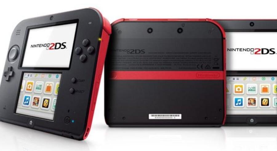 2DS er Nintendos nyeste våben i kampen om kunderne. Den kommer 12 oktober. Foto: Nintendo