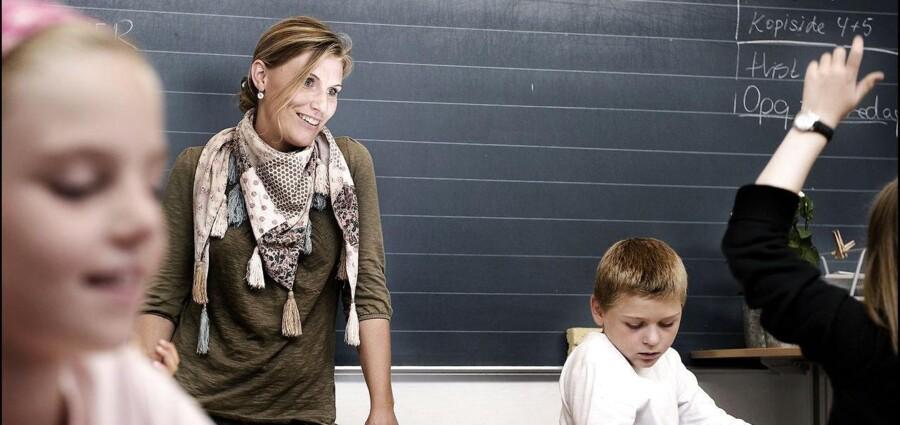 Skolelærer på Rungsted Skole, Ditte Nielsen. Danmarks Lærerforening udtrykker bekymring over, at der tilsyneladende kun bliver ansat få ekstra lærere i 2014.