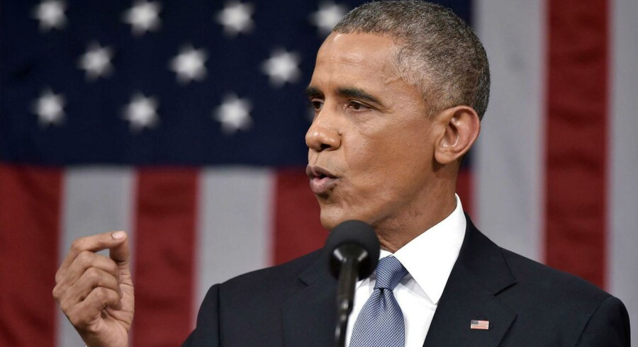 USAs præsident Barack Obama leverer sin tale til nationen, »State of the Union« i Capitol Hill i Washington.