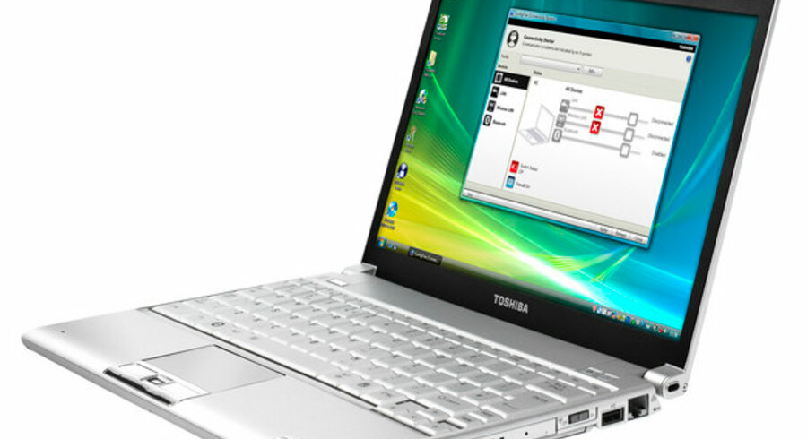 Med denne ultralette, bærbare PC (model Portégé R600) vil japanske Toshiba få flere erhvervsfolk til at vælge Toshiba. Foto: Toshiba