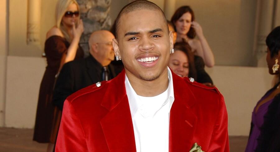 Popstjernen Chris Brown er blevet anholdt i sit hjem i Los Angeles. Han har også tidligere vakt furore. Arkiv. Free/Colourbox