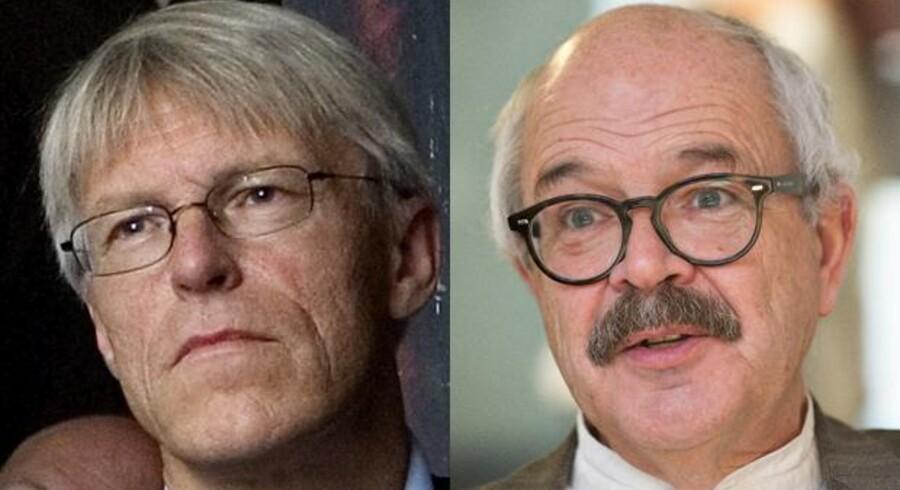 Den administrerende direktør Lars Bernhard Jørgensen (til venstre) har gjort hvad han skal. Ansvaret for de økonomiske problemer i WoCo ligger hos den tidligere bestyrelsesformand, Michael Metz Mørch (til højre). Det mener i hvert fald en juridisk ekspert.