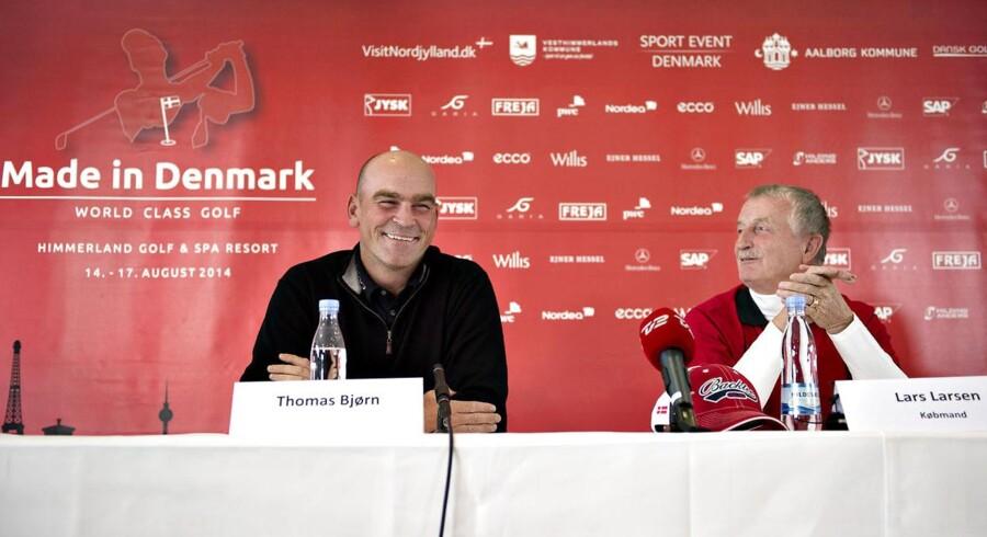 Thomas Bjørn er et af trækplastrene, når Lars Larsen er vært for »Made in Denmark« på European Tour. Turneringen finder sted på Himmerland Golf & Spa Resort ved Farsø i Himmerland.