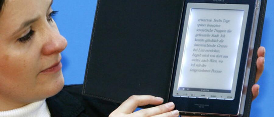 Her ses Sonys udgave af e-bogen.