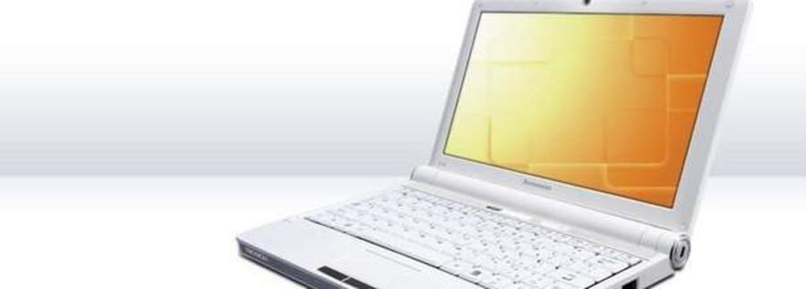 De små, lette og prisbillige mini-PCer (her Lenovos Ideapad med 10-tommerskærm) storsælger i Danmark.