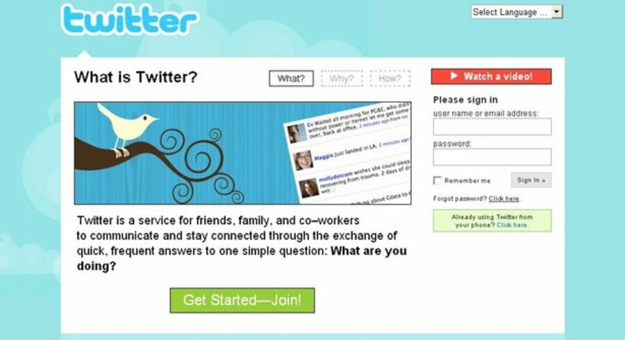 Twitter har opnået stor popularitet.