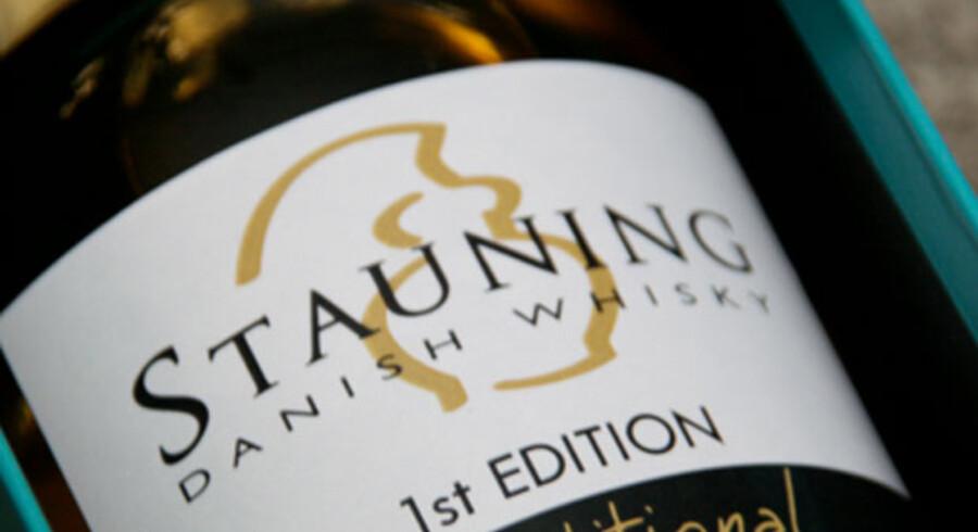 En af de to whiskyer fra Stauning, der kom på markedet i sommer efter de obligatoriske tre år på fad.