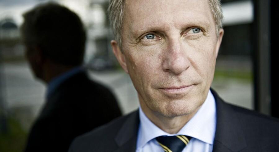 Adm. direktør i IBM Danmark og formand for DI Lars Mikkelgaard-Jensen taler her ved indvielsen af Industriens Hus for næsten et år siden. Men han er udpræget tavs om IBMs rolle i Se og Hør-skandalen. Arkivfoto: Keld Navntoft