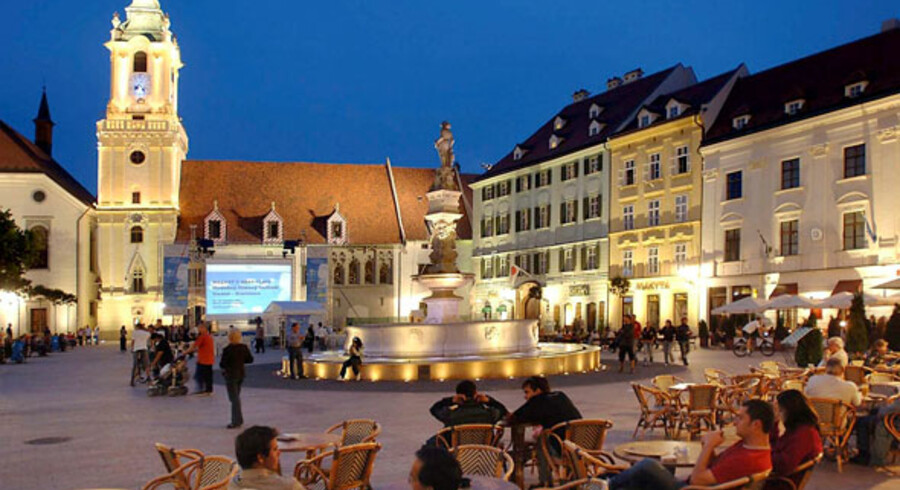 Bratislavas gamle bydel emmer af hygge.