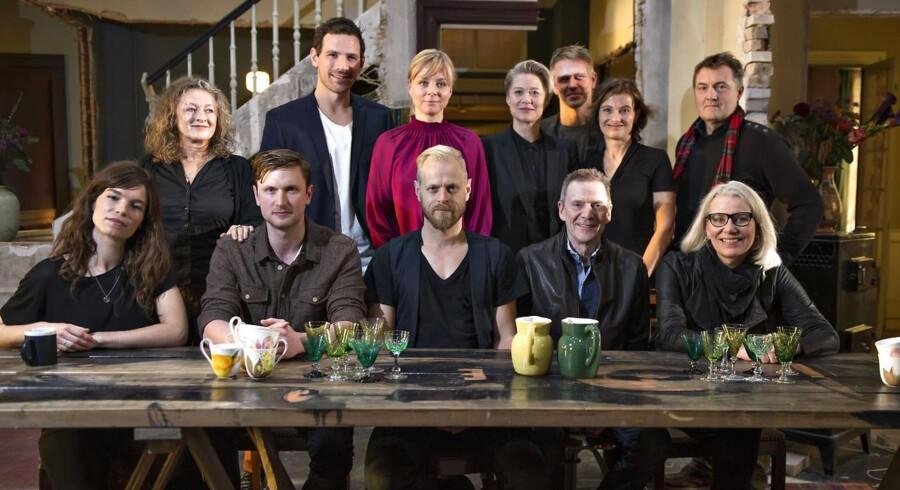 Arkivfoto af de medvirkende i DRs dramaserie 'Arvingerne'.