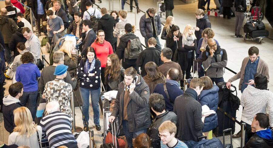 Omkring 1000 flypassagerer berørt af angreb i Bruxelles. Arkivfoto.