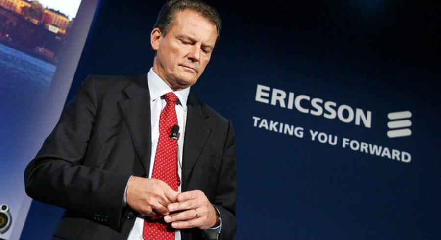 Ericssons koncernchef, Carl-Henric Svanberg, skal fyre 5.000 medarbejdere. Foto: Jonas Ekströmer, AFP/Scanpix