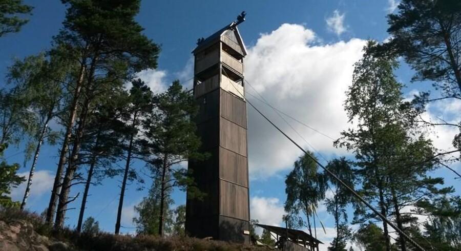 Øverst i det højeste Zipline-tårn bliver der indrettet Skycamping.