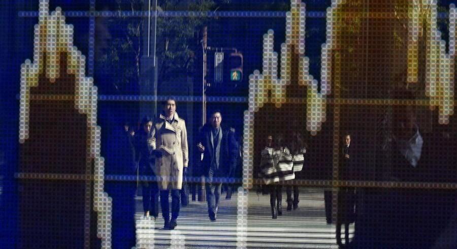Rystelserne på de globale finansmarkeder fortsætter tirsdag med store skælv på blandt andet det japanske marked. Arkivfoto.