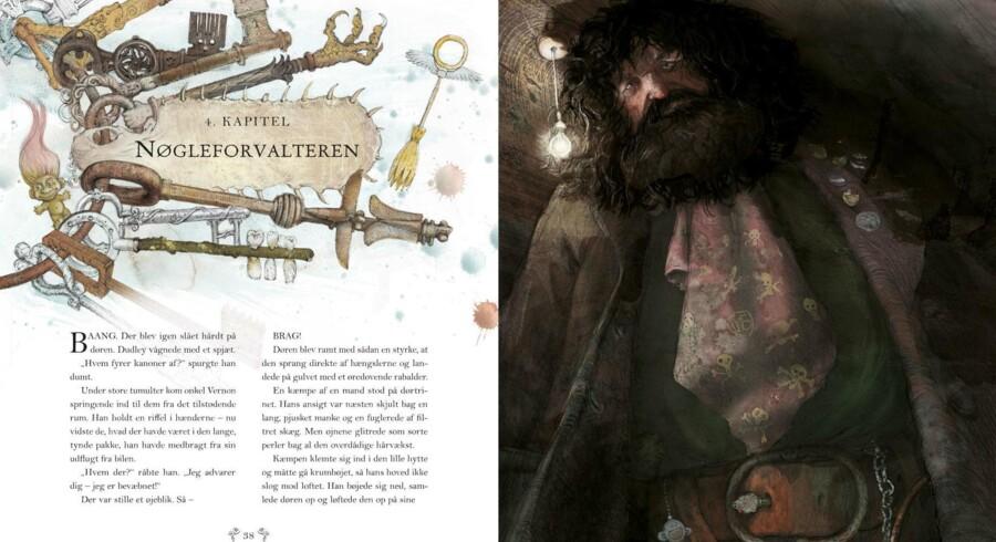 »Harry Potter og De Vises Sten« i billedmesteren Jim Kays fortolkning.
