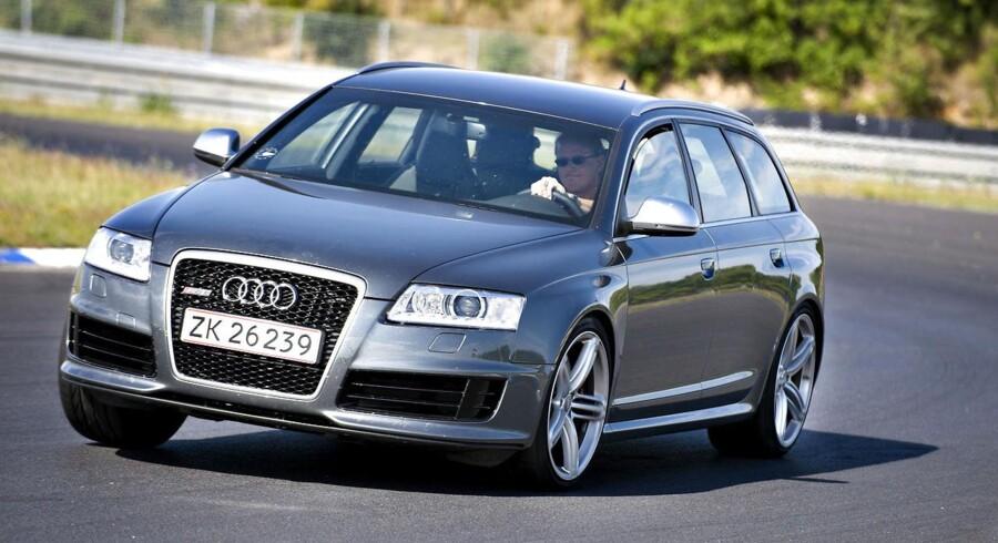 ARKIVFOTO Sådan kunne det se ud, OW bunker topchef rundt i sin firmabil, Audi RS6, i Tyskland.