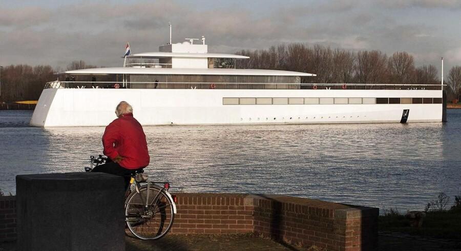 Steve Jobs' luksusyacht »Venus« bygget af den hollandske skibsbygger Royal de Vries i Aalsmeer, og med interiør designet af den verdenskendte designer Philippe Stack.