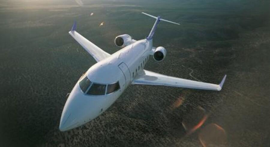 Her ses den næste generation af Challenger-flyet - model 605. Mærsk ejer modellen 604.