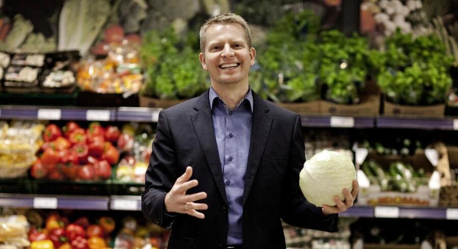 Administrerende direktør i Rema 1000, Henrik Burkal, kører ind i 2014 med en fremgang i omsætningen på 14 procent for 2013.