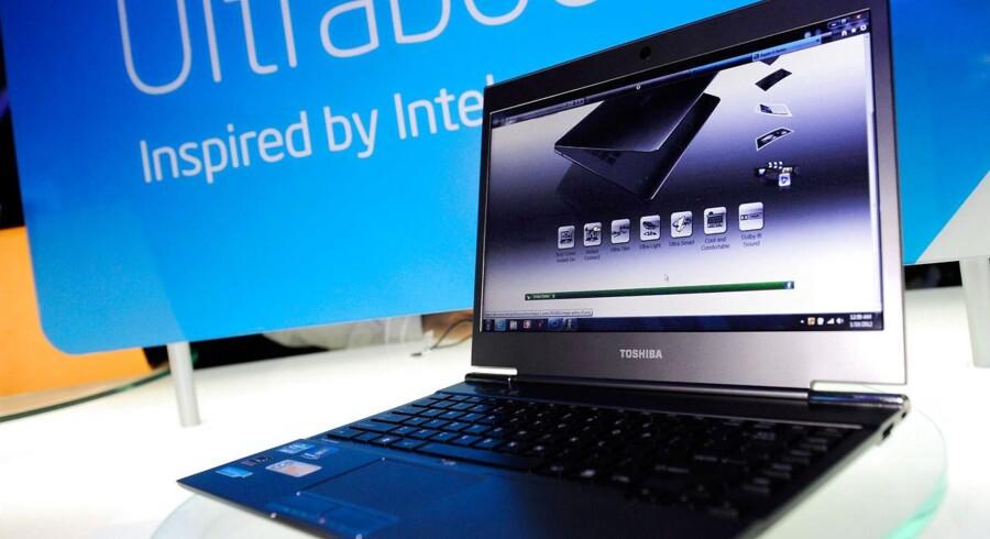 Toshiba skærer ned på sin PC-produktion. 900 stillinger bliver derfor nedlagt. Arkivfoto: David Becker, Getty/AFP/Scanpix